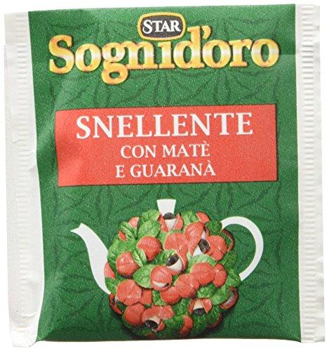 Sognid'oro - Tisana Snellente , con Te' Verde, Guarana' e Liquirizia, 20 filtri - 40 g