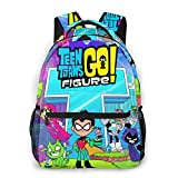 Oaimuoy Teen Titans Go Backpack,Travel Bag, Extra Large Capacity with 2 Side Mesh Bags