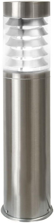 LED Standleuchte, 45cm, Pollerleuchte, Wegleuchte, Sockelleuchte, Gartenleuchte, Auenleuchte, Edelstahl, IP44, E27-230V (Form S17) (Neutralwei)