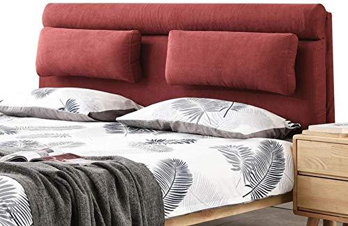 OYY Manufacture Cojines Cama de Respaldo Almohada Atrás Cojín Camas Suaves Tapicería para sofá Cama Day Double Lection Cintura Decoración para el hogar, 2 Estilos (Color : B-Red, Size : 160x10x60cm)