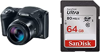 Canon PowerShot SX420 is (Black) with 42x Optical Zoom and Built-in Wi-Fi with 64GB Memory Card