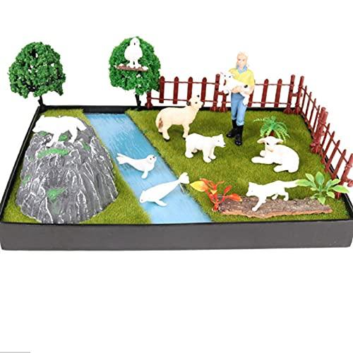 Realistico Animale Modello Parco Ornamenti Set Simulazione Mucca Oceano Megalodon Grande Bianco Squalo Micro Paesaggio Scena Giocattolo Educativo Per Ragazzi Ragazze Bambini Bambino
