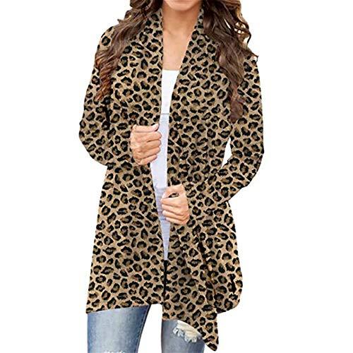 Damen Cardigans Leopard/Camouflage/Butterfly Drucken Offene Vorderseite Langarm Leichte Daily Coat Jacke Oberbekleidung Oberteile