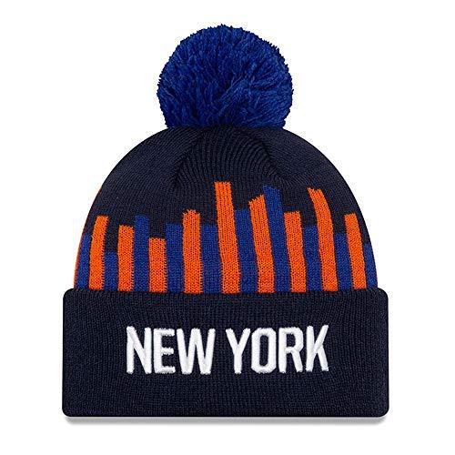 New Era - NBA New York Knicks 2019 City Series Knit Beanie - Blau Größe One Size, Farbe Blau