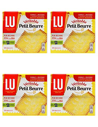 Lu Petit Beurre Biscuits, 7 oz From France Pack of 4