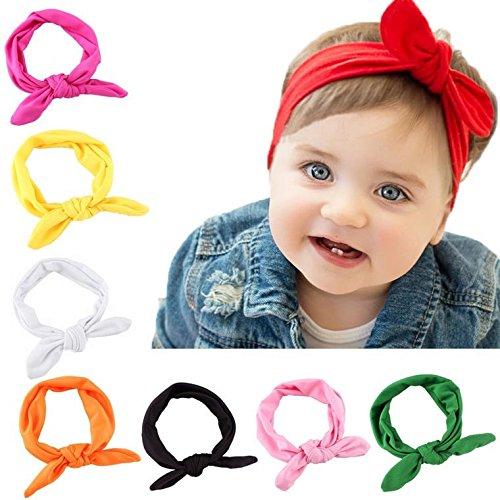 Malloom Bebé niños niñas Bowknot Mini diadema elástica venda (8 pcs)