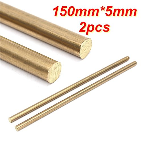 EsportsMJJ Da 150mm X 5mm Asta in Ottone Barre Tonde Solide Barre Hardware