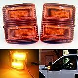 Accesorios luces LED del espejo del lado de la lámpara en forma for el Ford Super Duty 2008-2016 Piezas de coches (Color : Rojo)