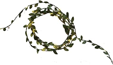 Zonster 20 Led Lichten Kunstmatige Klimop Nep Garland Groen Blad Planten Fairy Lights voor Bruiloft Feest Thuis Muur Decor