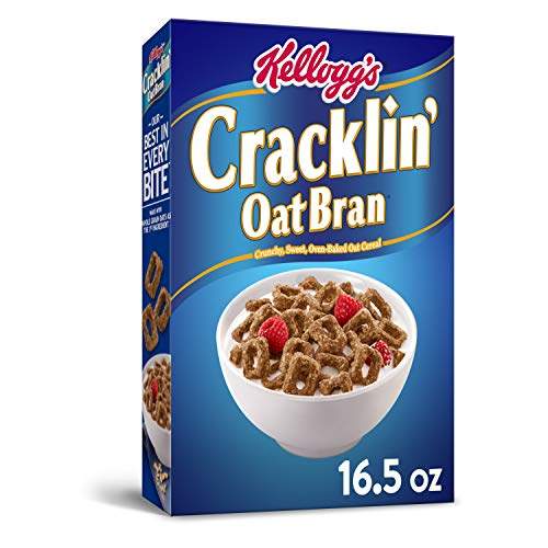 Kellogg's Breakfast Cereal, Cracklin' Oat Bran, Excellent Source of Fiber, Made with Whole Grain, 16.5oz Box (Pack of 10)