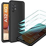 LeathLux Cover Compatibile con Samsung Galaxy A32 4G (Non per 5G) con 3 Pellicola Vetro...