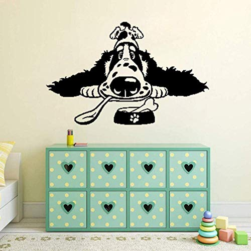 Muursticker Cartoon Spaniel Ras Hond Voedsel Home Art Decal Muurstickers 60Cm*38.1Cm