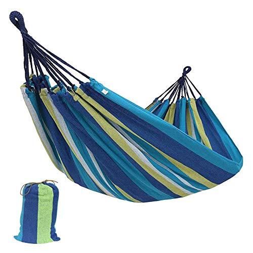Doolland Widen Hamac de Voyage Portable à Suspendre pour lit de Couchage, Chaise paresseuse en Toile, Bleu