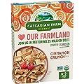 Cascadian Farm Organic Cinnamon Crunch Cereal, Whole Grain Cereal, 9.2 oz