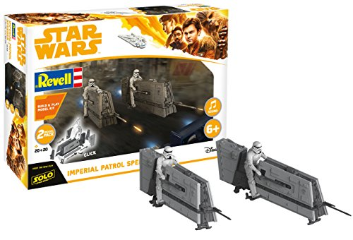 Revell Star Wars Solo Build & Play, 2 Imperial Patrol Speeder, con Sonidos,...