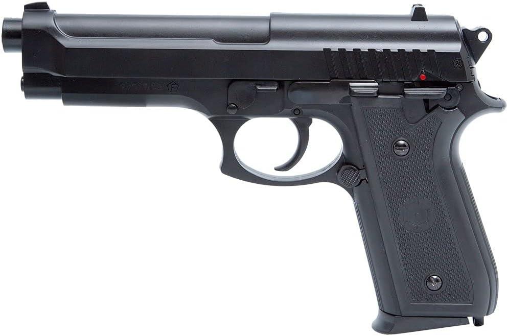 2EAGLE PT92 Black Cybergun - Pistola Airsoft-Pistola de resorte (Spring)-Color: negro, culata metálica, potencia 0,5 julio.
