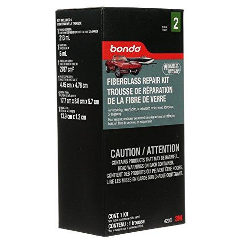 Bondo Fiberglass Repair Kit, Stage 2, For Repairing, Resurfacing, or Rebuilding Metal, Wood, Fiberglass or Masonry, Small Area