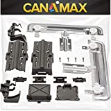 [Upgraded] METAL W10712395 Dishwasher Rack Adjuster Kit Replacement Parts by Canamax - Compatible with Whirlpool Kenmore Dishwashers - Replaces W10250159 W10350375 AP5957560 W10712395VP