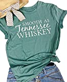 Smooth as Tennessee Whiskey Women T Shirt Gift Friend Country Cowgirl Birthday Gift Chris Stapleton Tops (Large, Army Green)