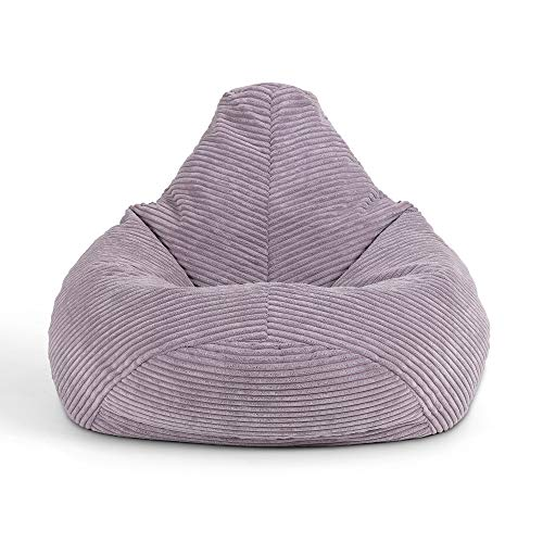 icon Mini Dalton Cord Sitzsack Stuhl, Cord Kids Sitzsack Stuhl, Flauschige Sitzsäcke für Kinder, lavendelviolett