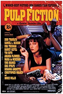 Pyramid America Pulp Fiction Uma Thurman Smoking Movie Poster 24x36 inch