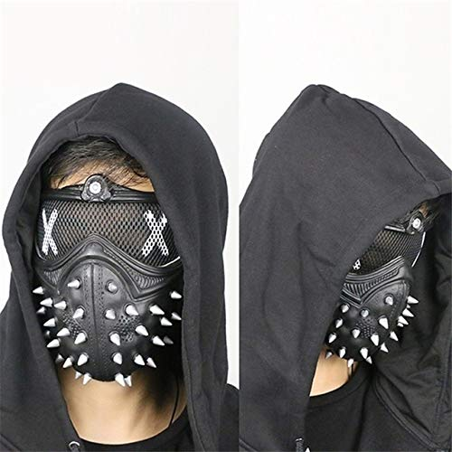Frmarche Steampunk Maske Cosplay Watch Dogs 2 Maske Airsoft Wind Cool Punk Nieten Maskerade