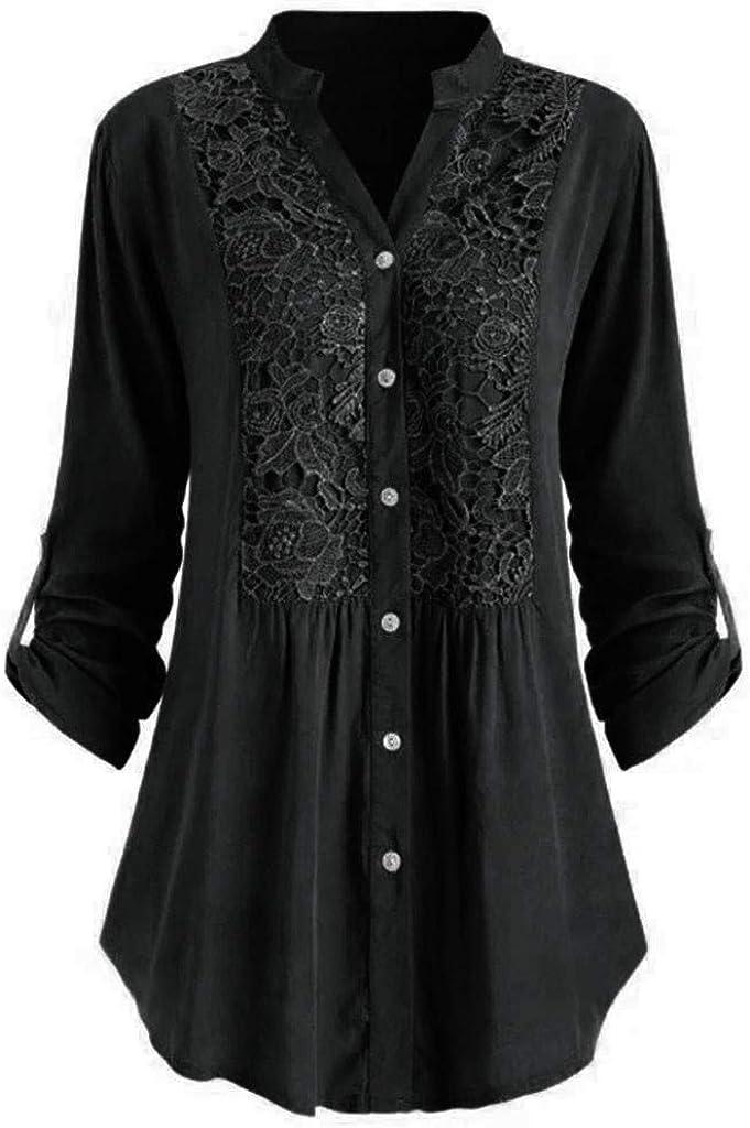 RicardoSchulte66 Fashion 5XL Plus Size Women Tunic Shirts Blouse Winter Autumn Ladies Large Size Button Lace V Neck Long Sleeve Shirt Blouse Blusas Mujer White