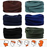 JOEYOUNG Bandanas Multifunktionstuch Schal Headwear Neck Gaiter, Head Wrap für Frauen, Magic Head...