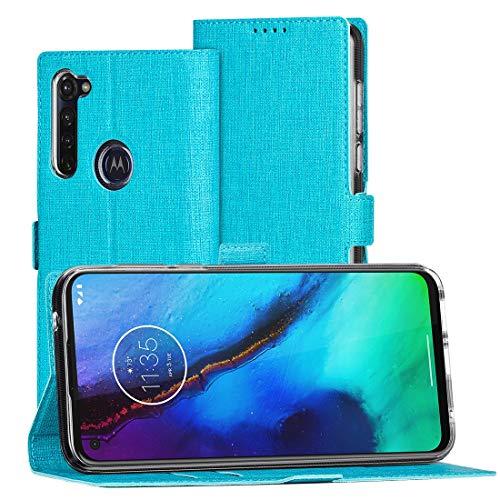 FUNMAX+ Moto G Pro Hülle, PU Leder Handyhülle mit Kartenfächer, Schutzhülle Hülle Tasche Flip Cover Magnetverschluss Stoßfest Brieftasche für Motorola Moto G Pro (Blau)