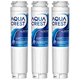 AQUACREST 644845 Filtros de Agua para Frigorífico, Compatible con Bosch UltraClarity 644845, 00740560, 740560, 00499850, 00649379, 9000194412, 9000077104, MIELE/Haier 0060820860, 0060218743 (3)