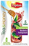 (2 Pack) Lipton® Tea & Honey, Blackberry Pomegranate Iced Green Tea, To Go Packets, 10 packets
