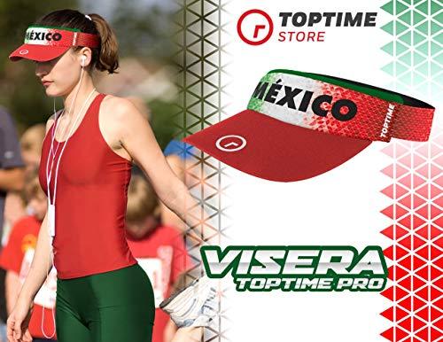 TOP TIME Visera Hombre Mujer Gorra Deportiva Ajustable Elastica Diseño Exclusivo México