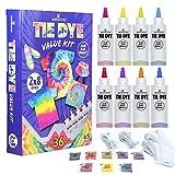 WINSONS 8 Couleurs Tie Dye Kit, Kit Tie-Dye Peinture Textile Permanente Art & Crafts pour Enfants Adultes et Bricolage