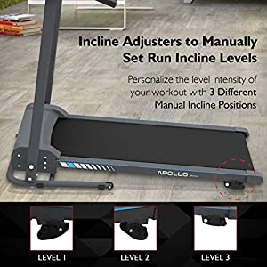 SereneLife Smart Electric Folding Treadmill – Easy Assembly Fitness Motorized Running Jogging Exercise Machine with Manual Incline Adjustment, 12 Preset Programs | SLFTRD20 Model
