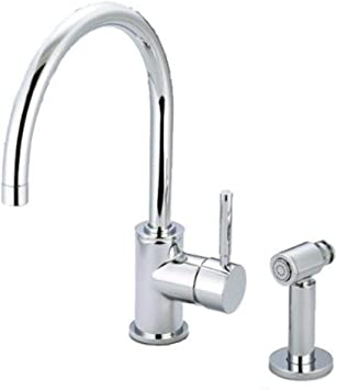 Water Creation F5 0003 01 Sp Gooseneck Kitchen Faucet With Mounting Plate And Solid Brass Side Sprayer Touch On Kitchen Sink Faucets Amazon Com