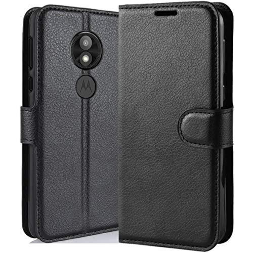 HualuBro Moto E5 Play Hülle, Premium PU Leder Leather Wallet HandyHülle Tasche Schutzhülle Flip Hülle Cover für Motorola Moto E5 Play XT1920 5.3