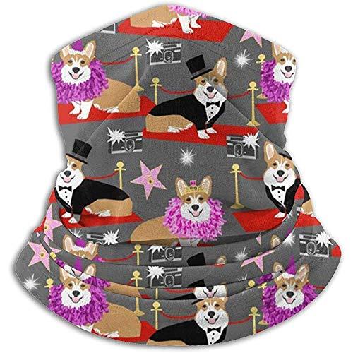 Merle House Halswärmer Gamasche Corgi Modenschau Roter Teppich Hundemuster Weiche Mikrofaser Kopfbedeckung Gesicht Schal Maske Für Winter Kaltes Wetter