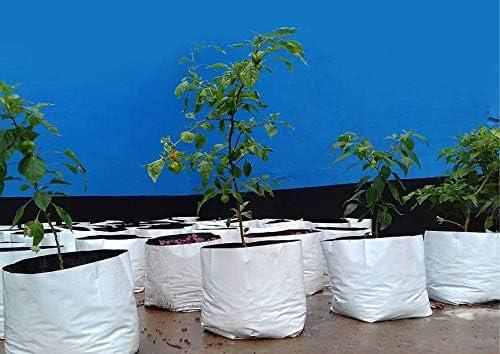 ROCHFERN Plastic Grow Bags, White, 40x24x24 cm, 15 Pieces