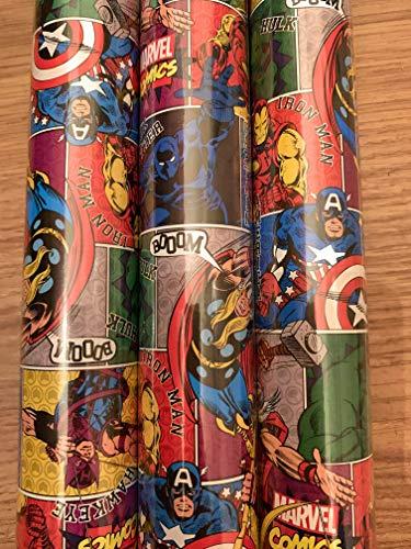 6 metros de papel de regalo de Marvel