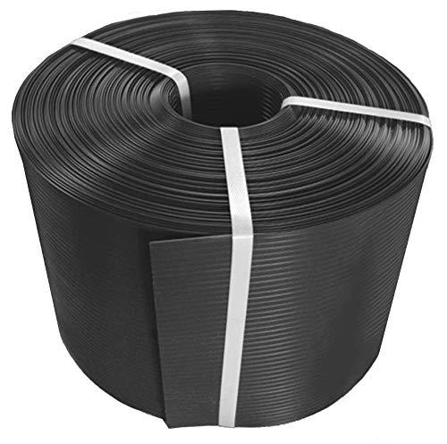 Thermoplast® SICHTSCHUTZSTREIFEN, Sichtschutzblende, 19cm x 26m = 4,94m2, Anthrazit (RAL 7016), 5 Jahre Garantie