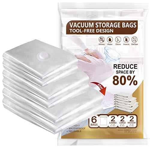 (50% OFF) Vacuum Storage Bags 💥No Pump Needed $10.00 – Coupon Code