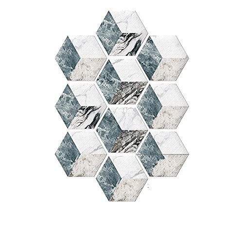 Pegatinas de piso resistentes a los resistentes al desgaste 20 * 32 cm Pegatinas de la pared de la baldosa de cerámica del piso autoadhesivo que no se desliza PVC Hexagonal Stickers,F,20 * 23CM