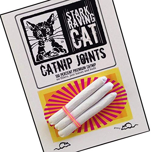 Catnip Joints Cat Toy - Set of 3, handmade using 5-Star Catnip and heavy cotton fabric