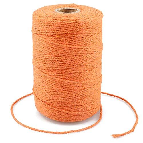 G2PLUS 200M Cuerda de algodón,2MM Cuerda de Manualidades,