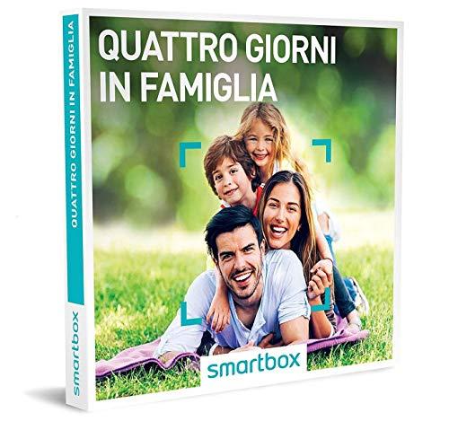 smartbox - Cofanetto Regalo per la Famiglia - Quattro Giorni in Famiglia - Idee Regalo Originale - 3 Notti con Colazione per 2 Adulti e 2 Bambini