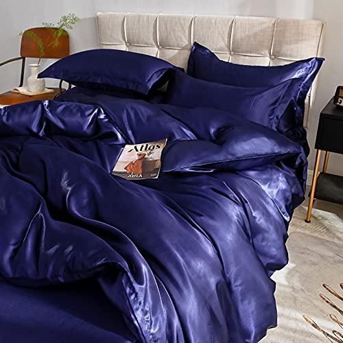 Bedding-LZ Juego De Funda NóRdica Cama 150,Lavar El Conjunto De Cuatro Piezas De Color De Cuatro Piezas De Color SóLido.-Q_1,5 M La Cama (4 Piezas)