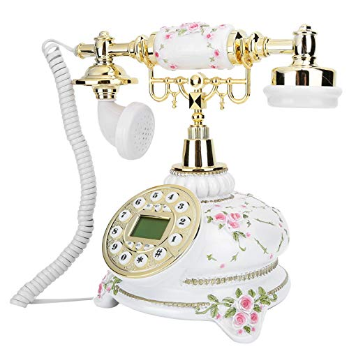 Goshyda Teléfono Fijo, CT ‑ N8008 Sistema Dual Retro Antiguo Teléfono Fijo clásico clásico, Sala de Estar, Dormitorio, Sala de Estudio, Oficina, Regalo