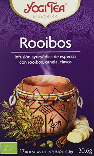 Yogi Tea Infusión de Hierbas Rooibos - 17 bolsitas - [pack de 3]