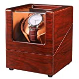 Mineesi Watch Winder for Single Automatic Watches with Quiet Motors Piano Paint by AC Adapter or Battery
