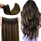 WENNALIFE Halo Hair Extensions, 14 Inch 70g...